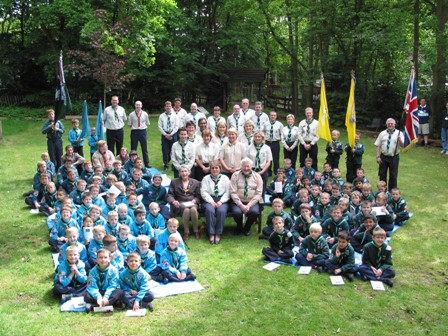 Pam in attendance at the 'Scouts Own Ceremony' on her groups 60th Anniversay Camp at Chalfont Heights in 2005